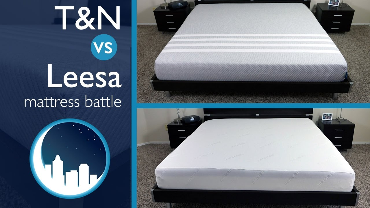comparing the mattresses of leesa and tuft & needle