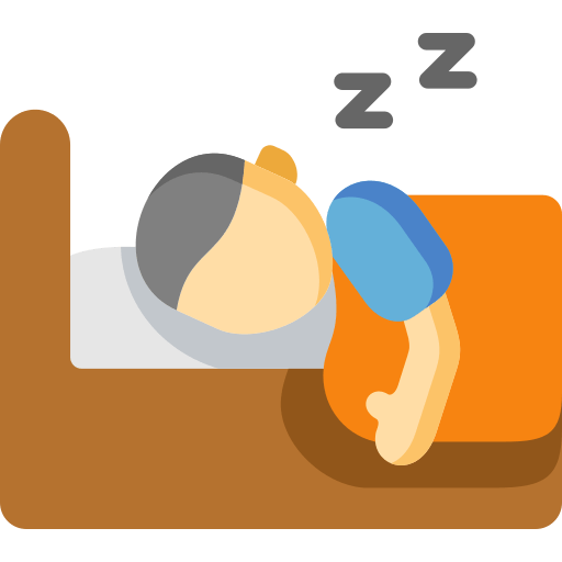 what is a hybrid mattress sleeping image icon